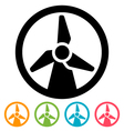 Wind turbine icon vector image