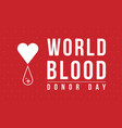 world blood donor day collection background vector image vector image