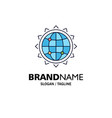 world globe seo business optimization flat color vector image