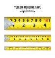 yellow measure tape centimeter and inch vector image vector image