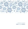blue molecules texture horizontal frame seamless vector image