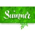Summer word brush lettering vector image