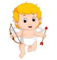 funny little cupid boy vector image