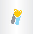 search magnifier abstract icon vector image