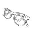 Glasses sketch vector image