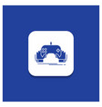 blue round button for game gaming mobile vector image vector image