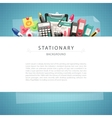 Blue Stationary Background with Copy Space vector image vector image