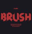 brush font alphabet vector image