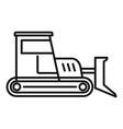 build bulldozer icon outline style vector image vector image