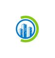 building cityscape construction company logo vector image vector image