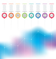 Business chart graph of increase infographics with vector image vector image