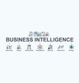 business intelligence banner web icon vector image