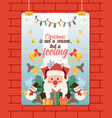christmas 2019 happy new year greeting card santa vector image vector image
