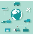 concept delivery set modern design icons in vector image vector image