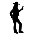 cowgirl farmer girl leaning hand against something vector image vector image