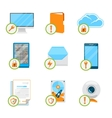 Data protection flat icon set vector image vector image