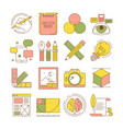 design process icons packing art creative web vector image vector image