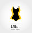 diet logo vector image vector image