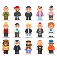different subcultures man in trendy flat style vector image vector image