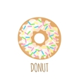 Donut icon on a white background vector image vector image