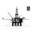 drilling platform for oil or gas production from vector image vector image