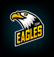 eagle logo for sport team vector image vector image