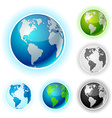 Earth balls - America vector image