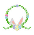 easter eggs ears wreath flower vector image vector image