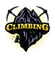 extreme mountain sports climbing logo vector image