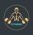 fitness logo icon design vector image vector image