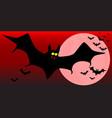 flying vampire bats vector image vector image