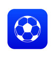 football or soccer ball icon digital blue vector image vector image