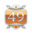 Forty nine years anniversary celebration silver vector image vector image