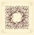 frame luxury vintage swirl line flourish vector image vector image