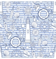 Graphic nautical pattern vector image