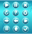 gui asset of nautical buttons vector image