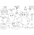 Halloween coloring set for little kids vector image vector image