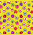 happy donuts seamless pattern background perfect vector image vector image