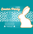 happy easter greeting card design vector image vector image