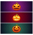 horizontal halloween banners background vector image vector image