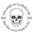 Human evil scull Death quote background vector image vector image