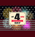 independence day 4th july greeting banner vector image vector image