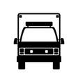 isolated ambulance truck vector image