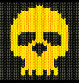Knitted skull vector image vector image