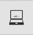 laptop update process with loading bar icon vector image vector image