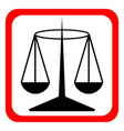 law scale icon justice symbol modern simple vector image
