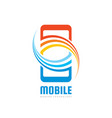 mobile phone logo template concept vector image vector image