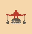 muscular man posing on gym club text vector image vector image