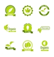 Natural eco and organic products logos vector image vector image