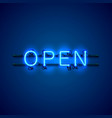 neon sign with text open entrance is available vector image vector image